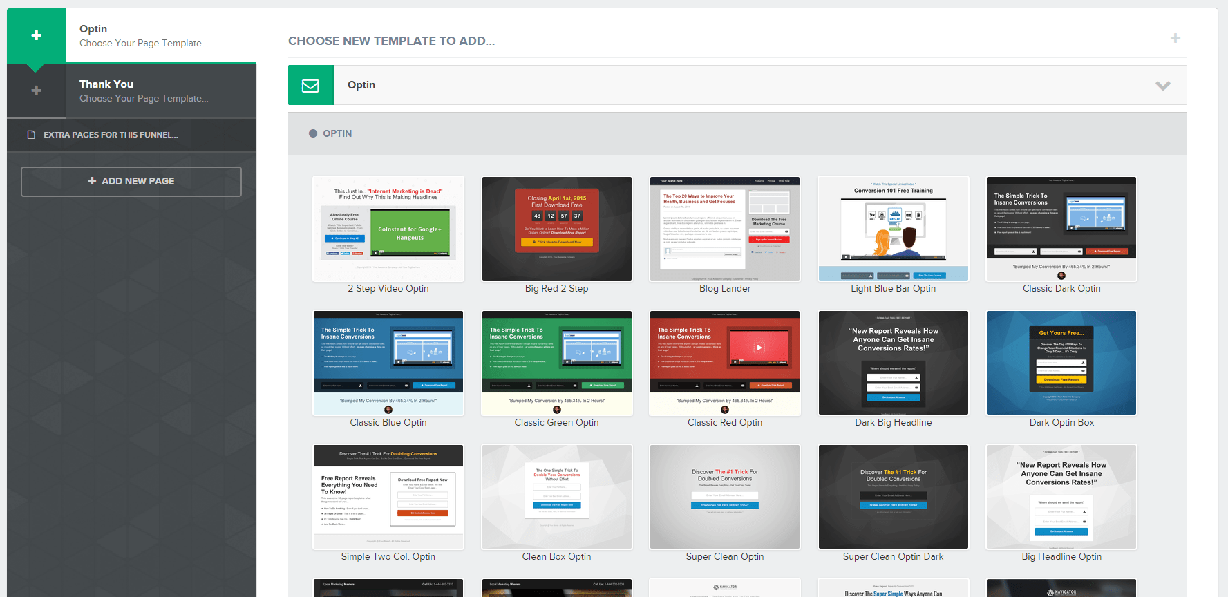 ClickFunnels templates email optin