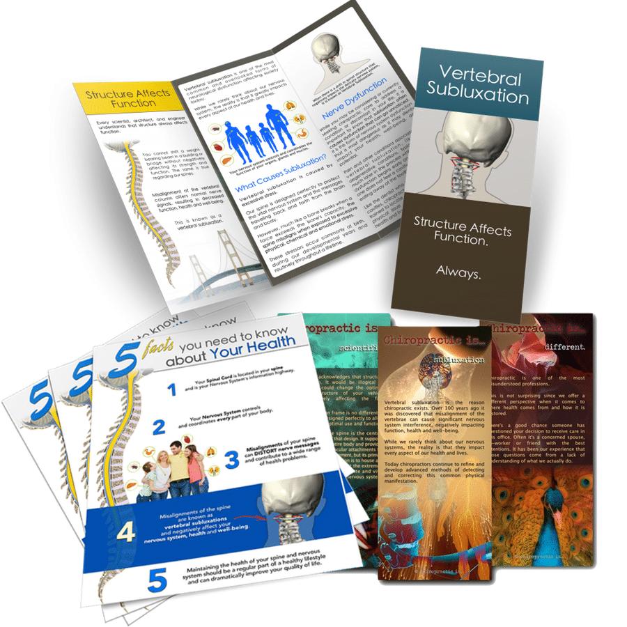 geet new ciropractic patients with chiropractic brochures