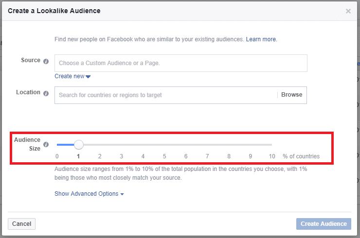 lookalike audience on facebook audience size